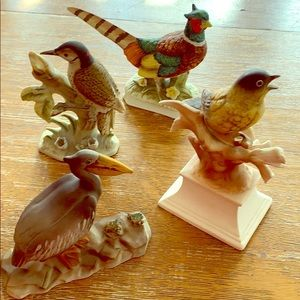 🍭VINTAGE VARIOUS COMPANY HAND PAINTED BIRDS 3